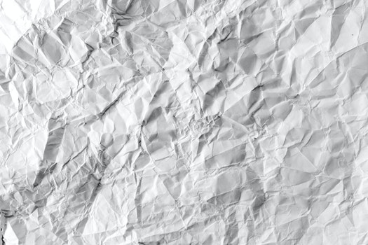 Kostenloses Stock Foto zu papier, faltig, zerknittert, gefältelt