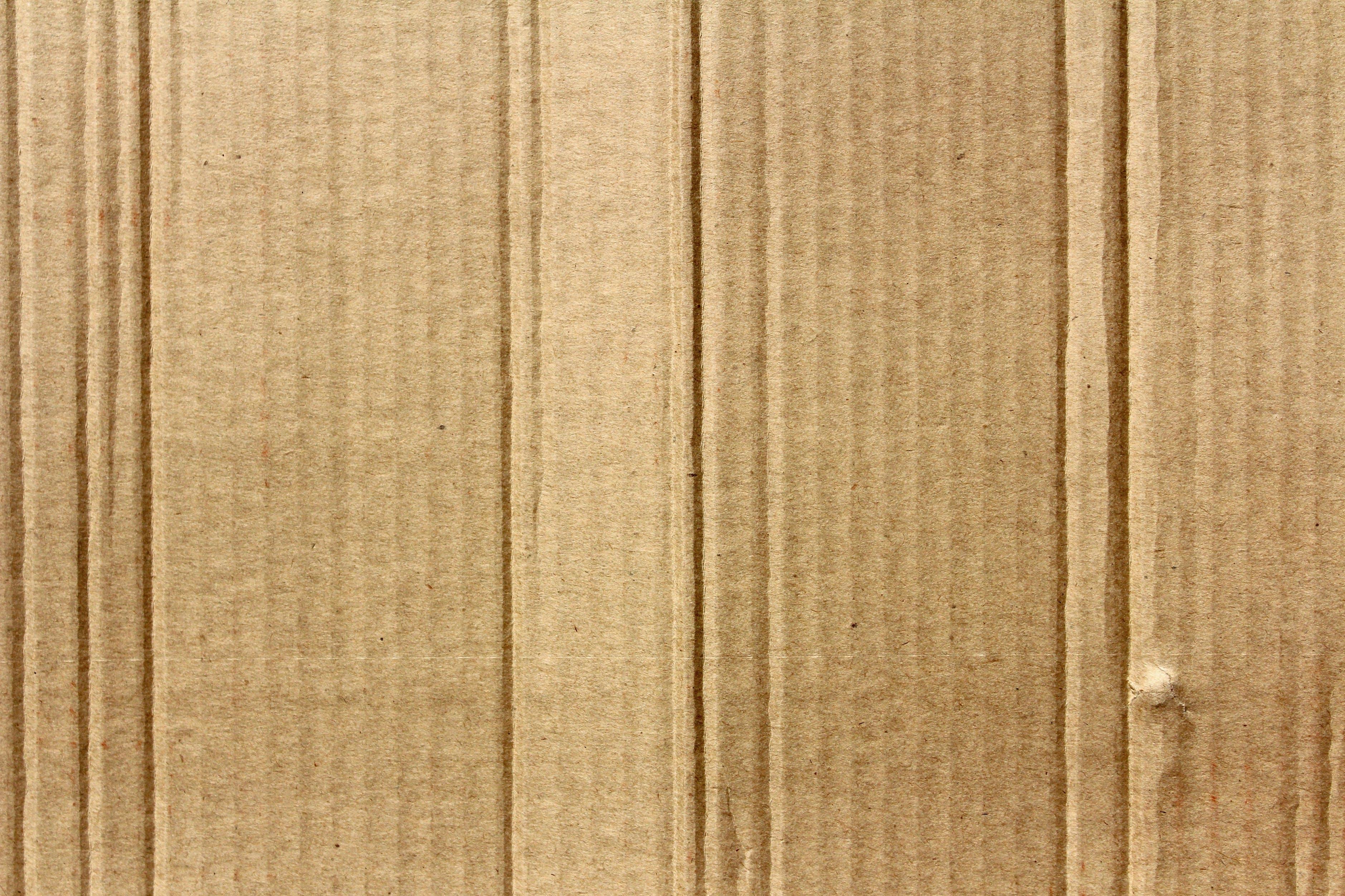 Kostenloses Stock Foto zu braun, gewellt, karton, material