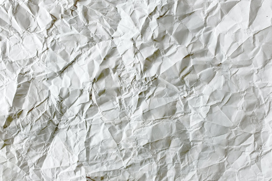 blank, close-up, crumpled