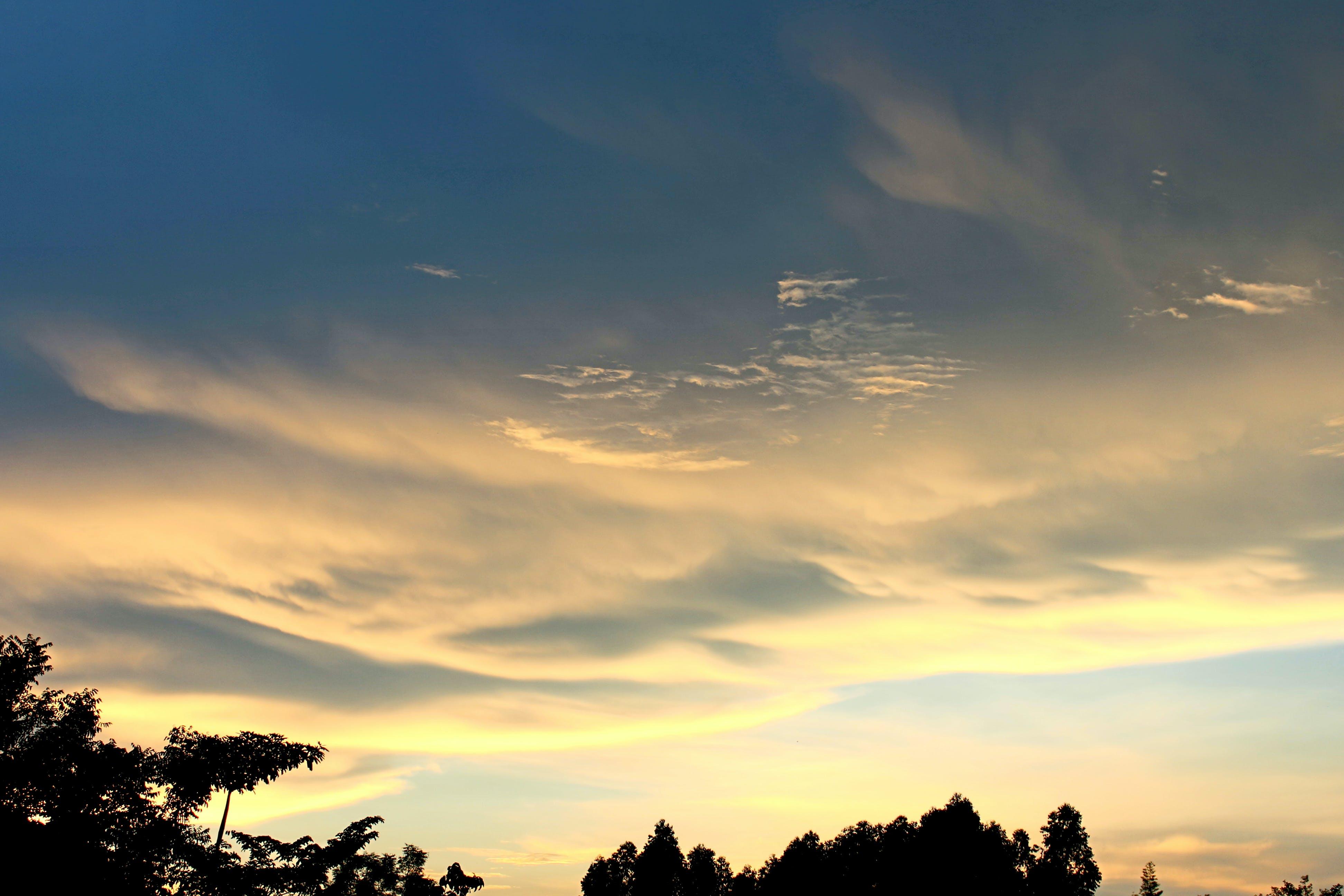 Δωρεάν στοκ φωτογραφιών με αίθριος καιρός, αυγή, γαλάζιος ουρανός, γαλήνιος