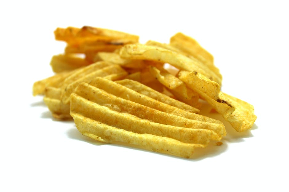 chips, close-up, crisp