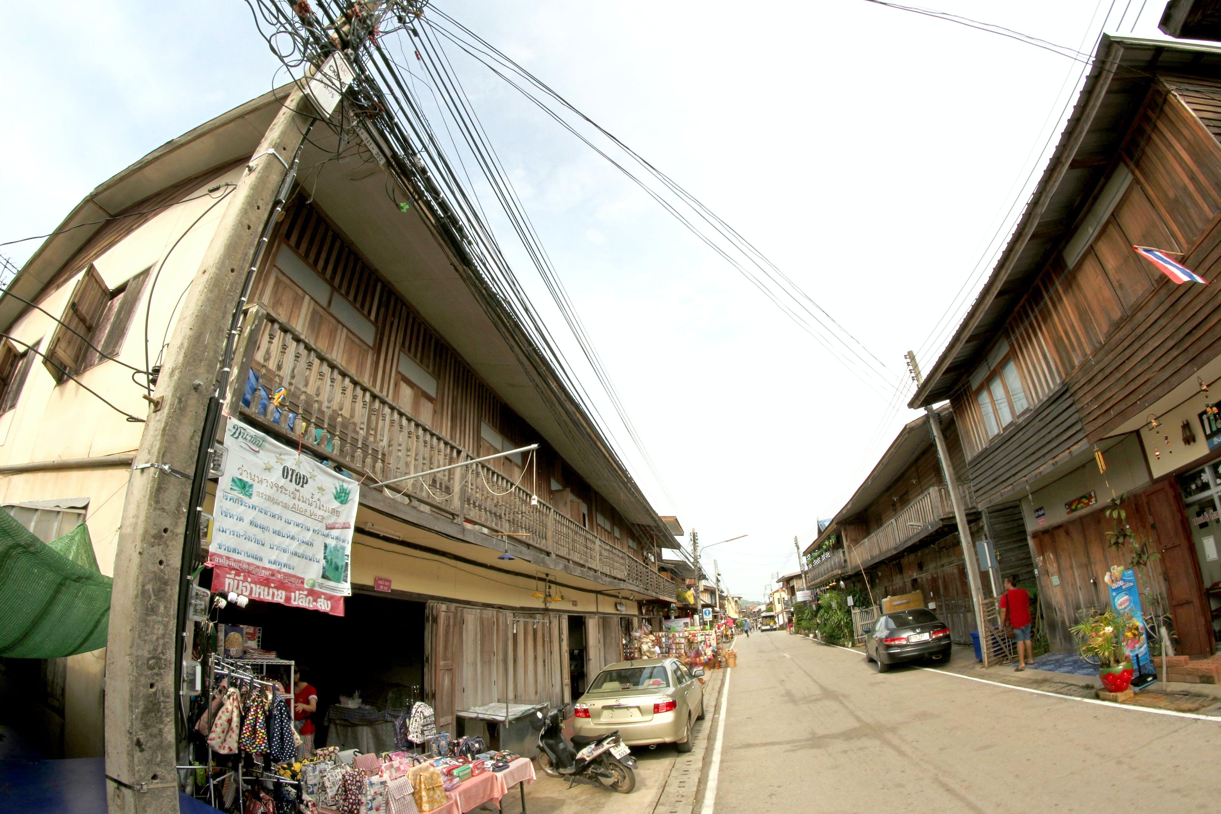 business establishment, cables, cars