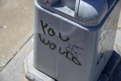 Free stock photo of bin, Would, writing