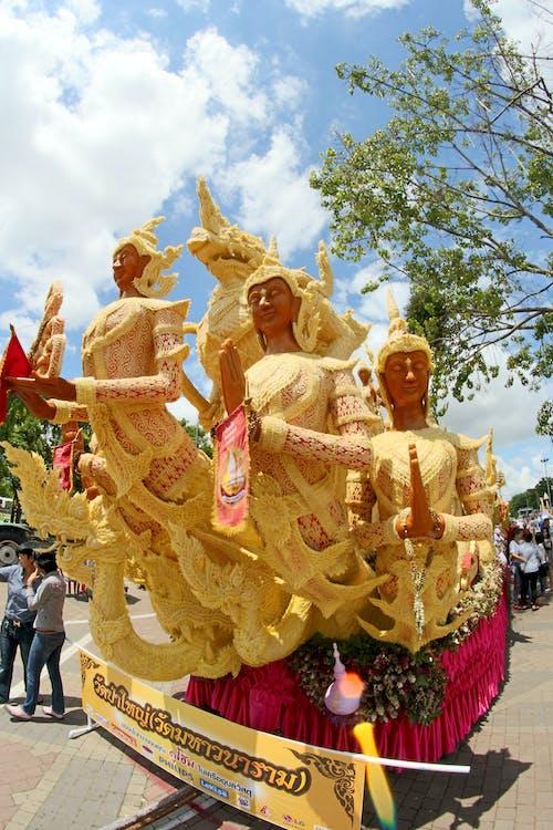 Gautama Buddha Float Parade at Street