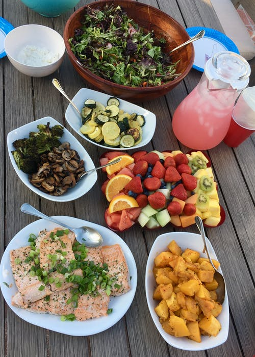 Free stock photo of healthy food, lemonade, picnic, salad