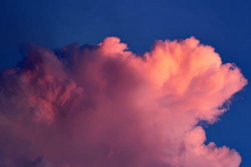 Pink Cloud Under Blue Sky