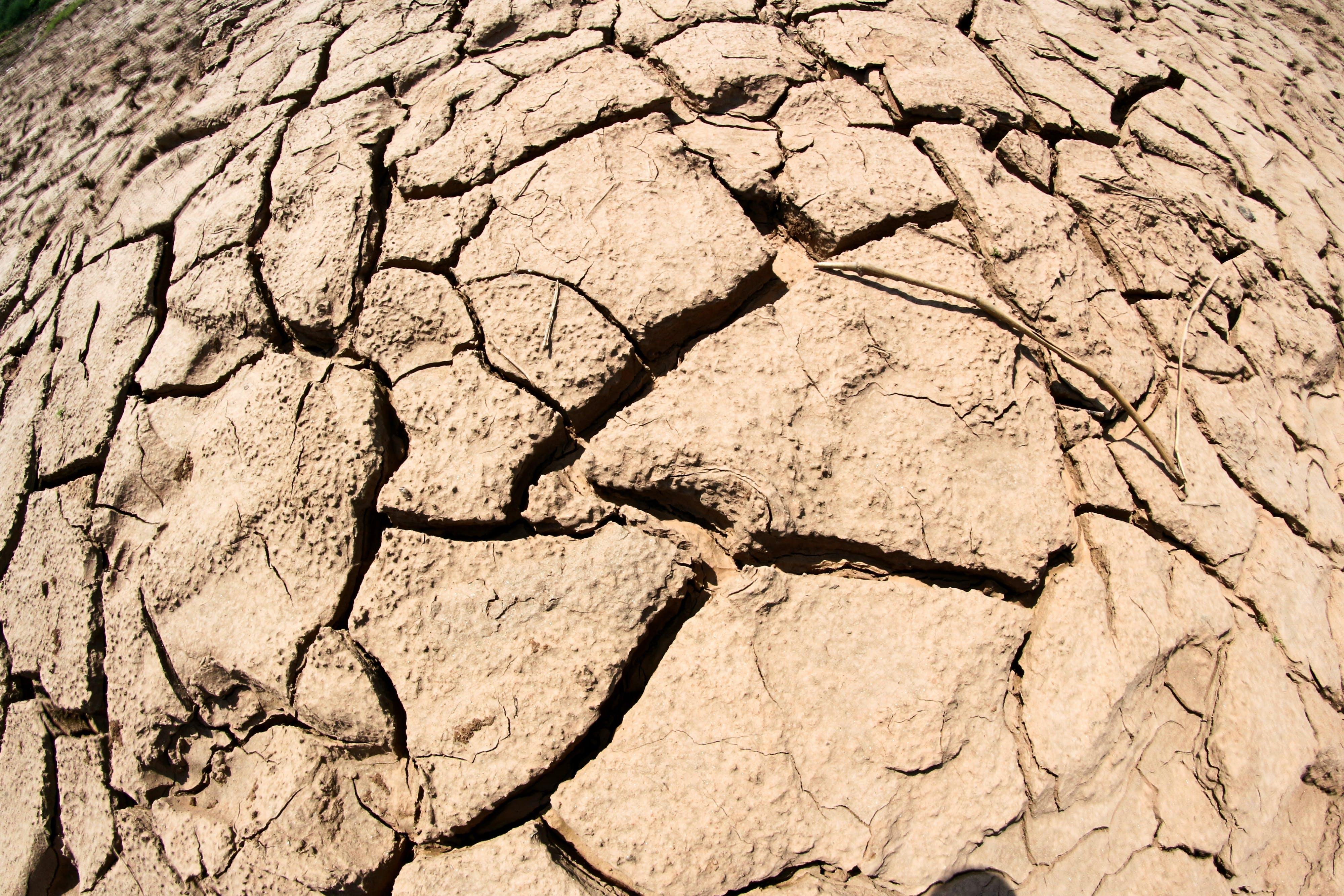 arid, clay, close-up