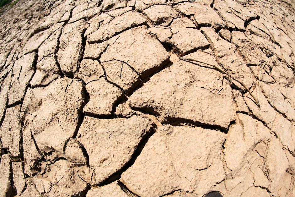 Arid clay close up cracks