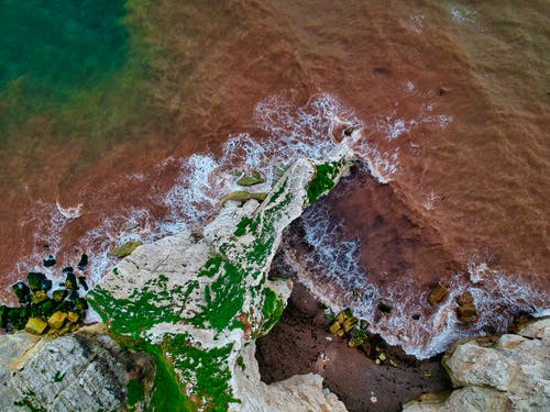 Brown and Green Water Waves