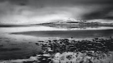 iceland, snow, sea