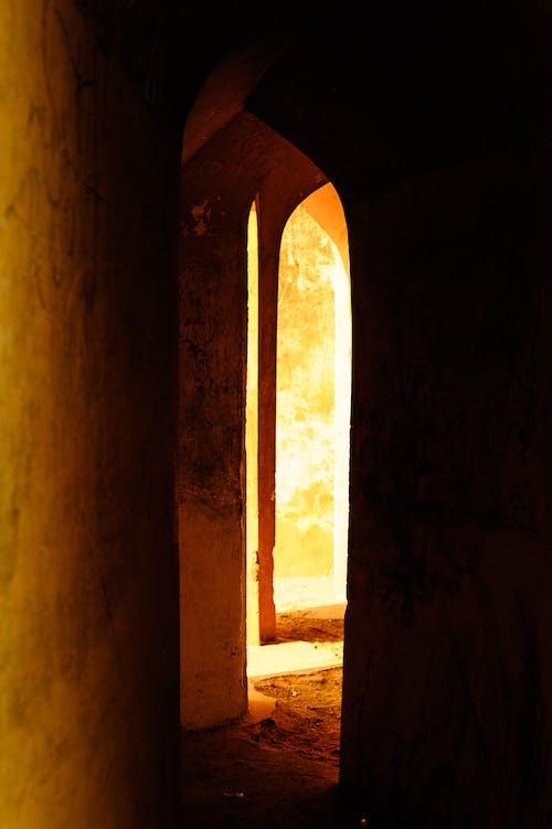 Free stock photo of architecture, dark, doorway