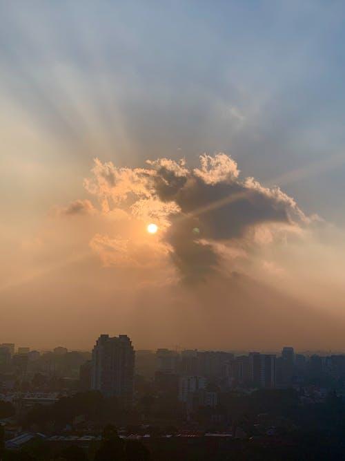 Free stock photo of beautiful sunset, city sunset, clouds
