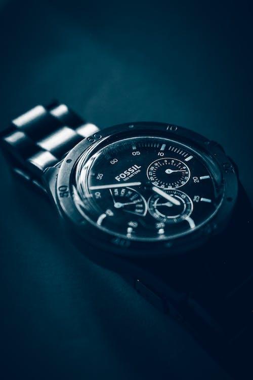 Close up Photo of a Chronograph Wristwatch