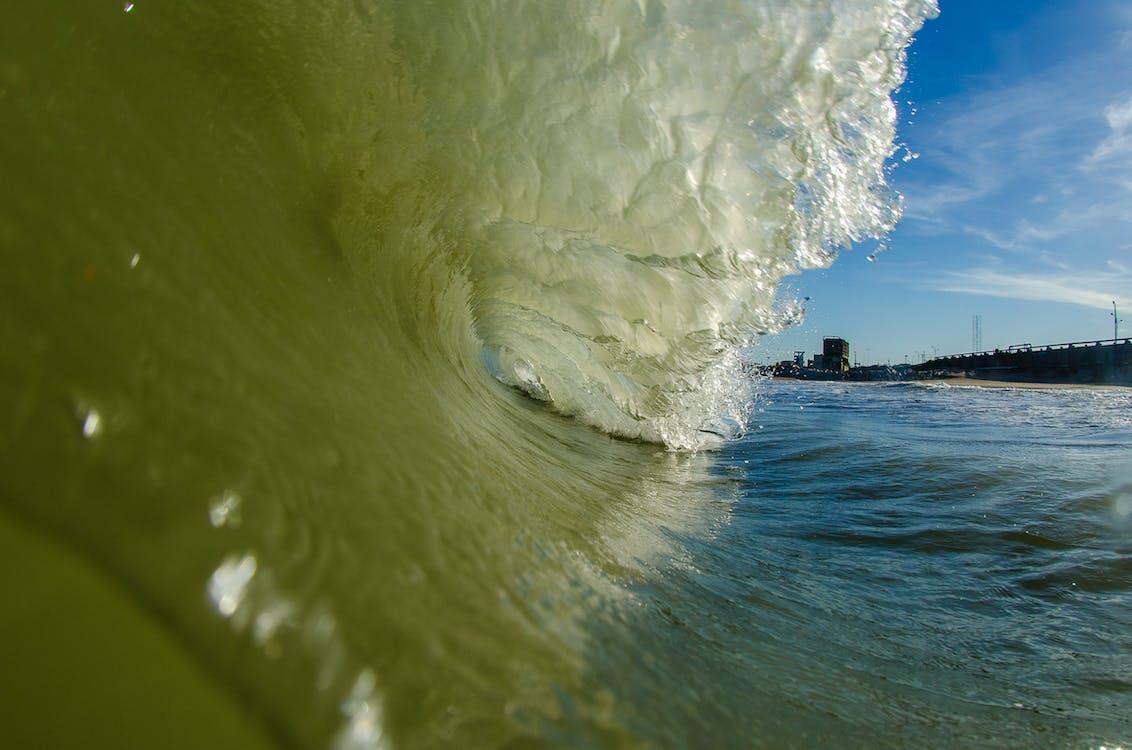 The Barrel of a Big Wave