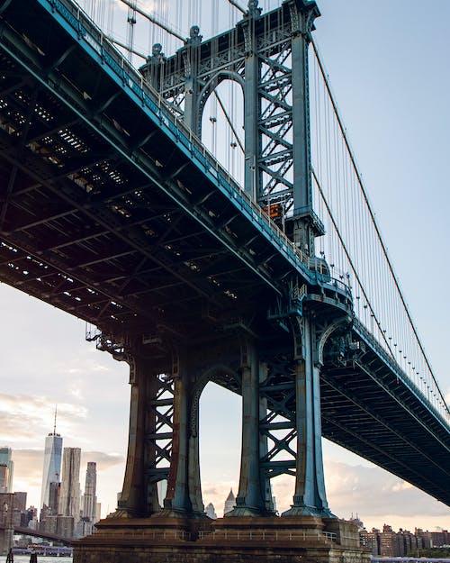 Gray Bridge Under Blue Sky