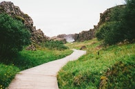 hiking, path, way