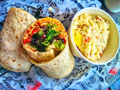 Immagine gratuita di avvolto, burrito, cibo