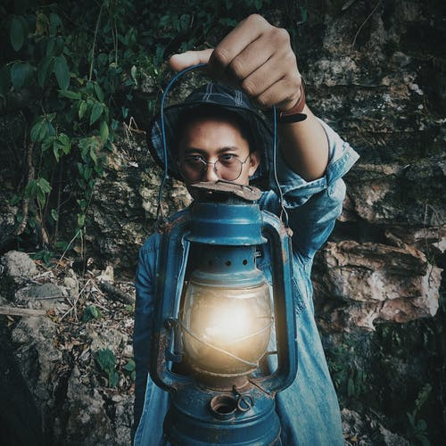 가벼운, 남자, 램프의 무료 스톡 사진