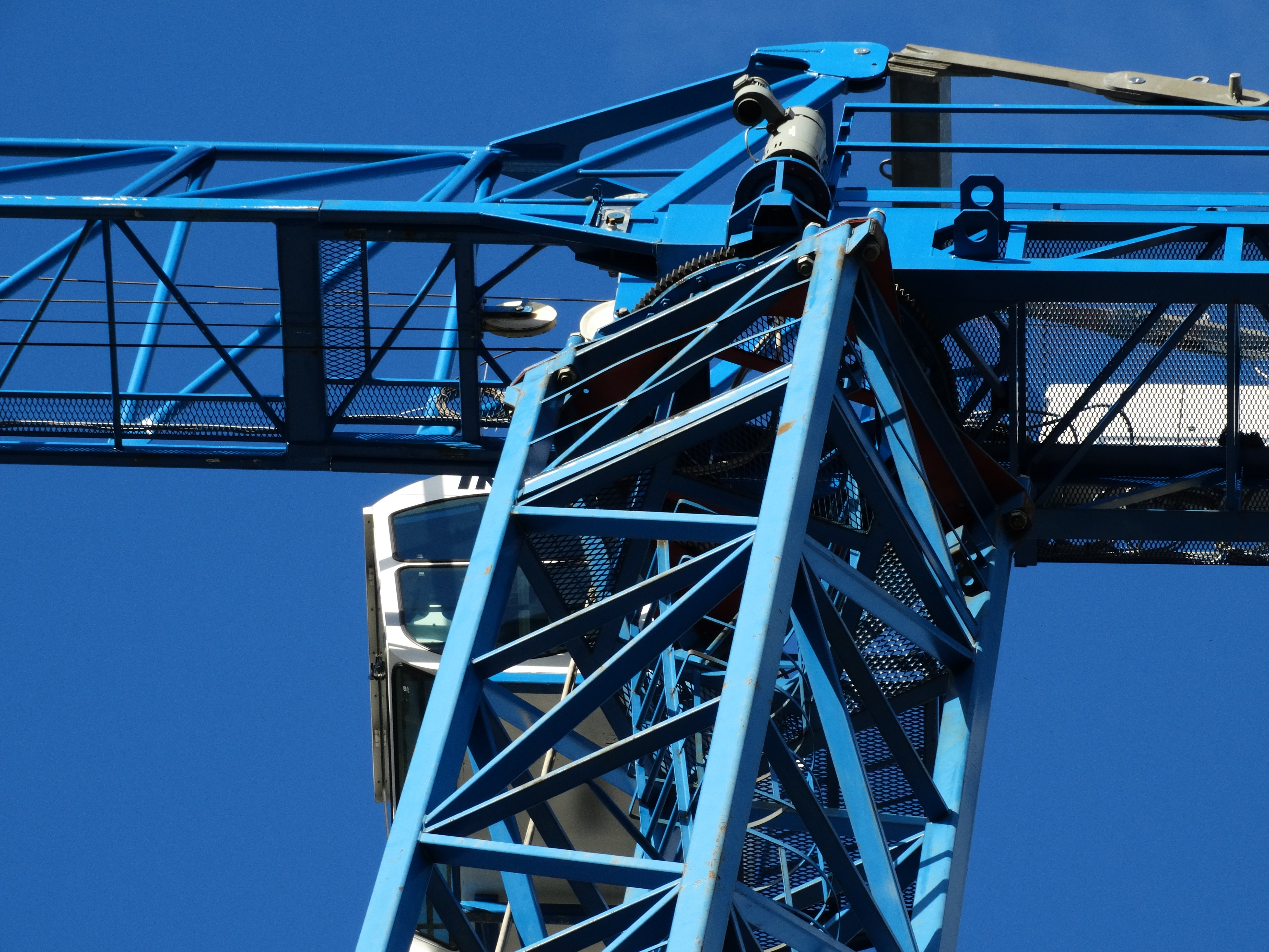 Blue Metal Crane