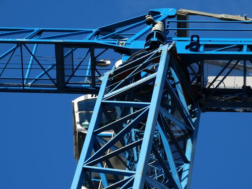 Foto d'estoc gratuïta de acer, alt, blau, braç de la grua