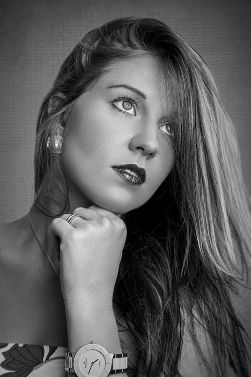Free stock photo of adult, b&w, beautiful, beautiful girl