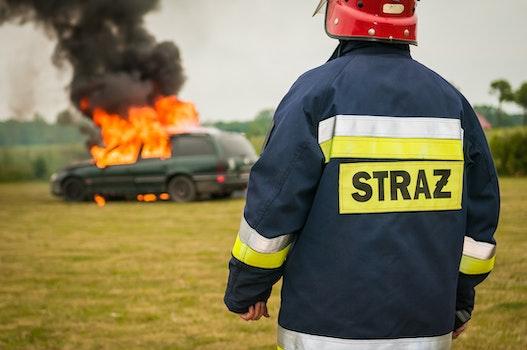 Free stock photo of car, vehicle, fire, smoke