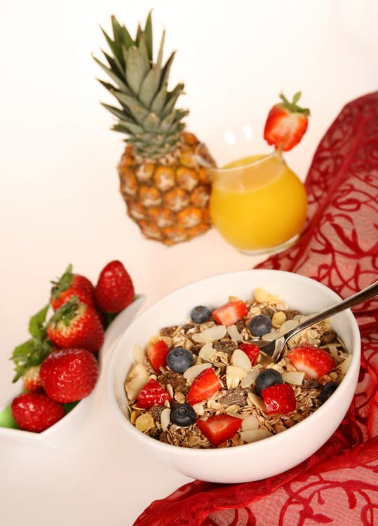 ananas, cereali, cibo