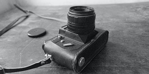 Free stock photo of bnw, camera, lenses
