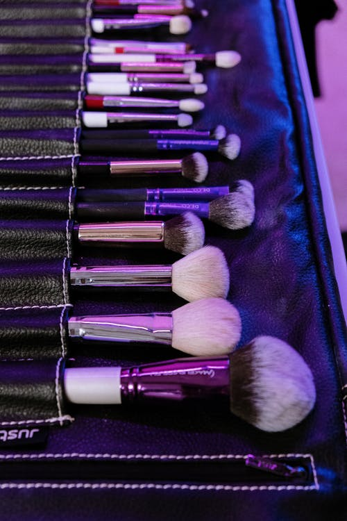 Black and Silver Makeup Brush Set