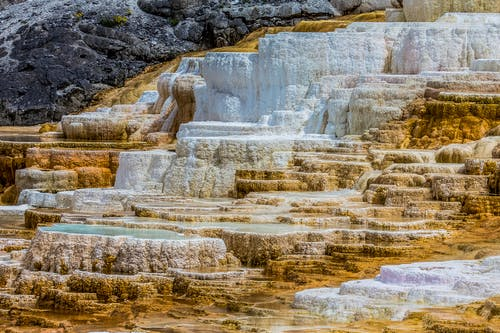 Travertine Terraces at Yellowstone National Park