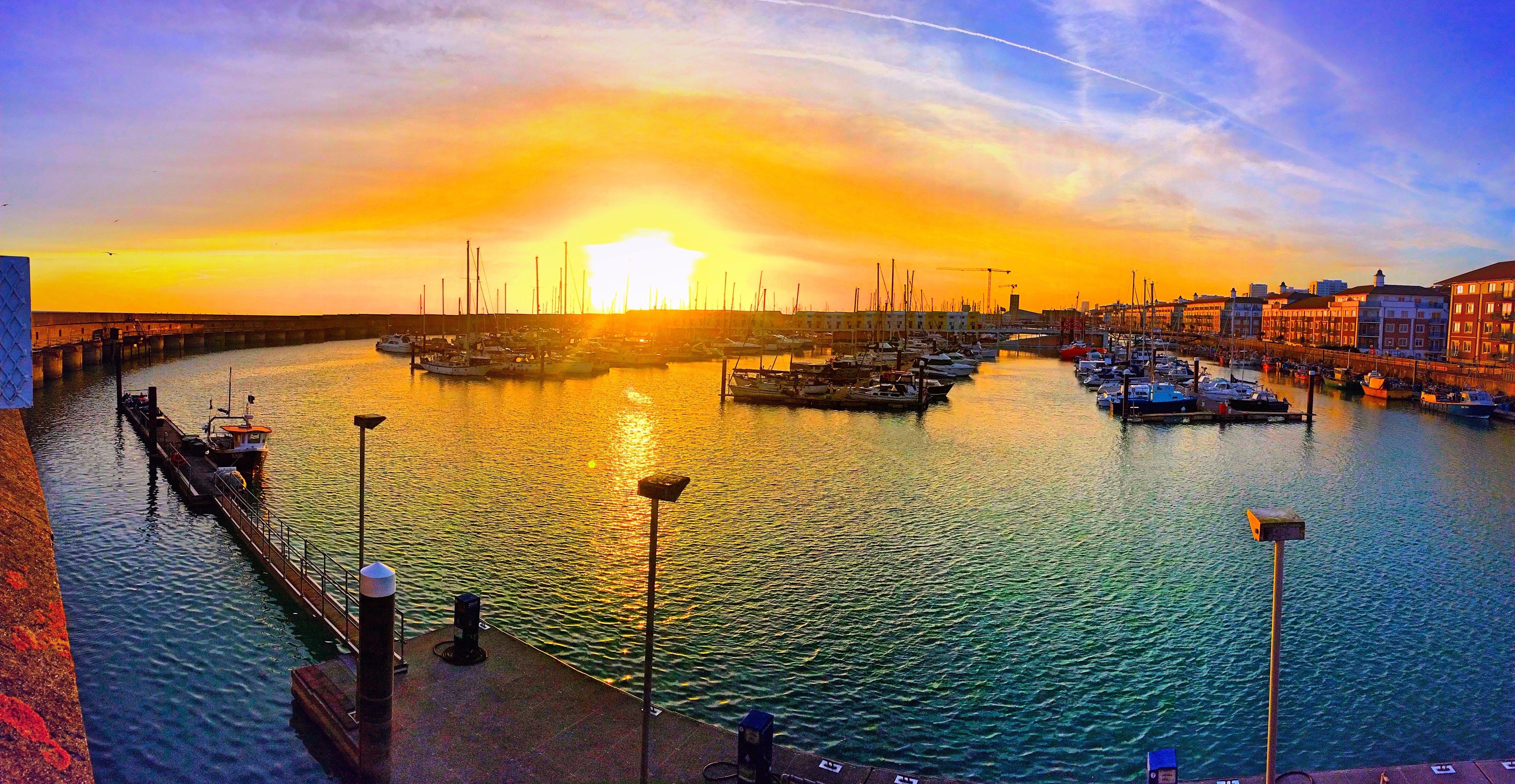 Free stock photo of fishing, sea, dawn, landscape