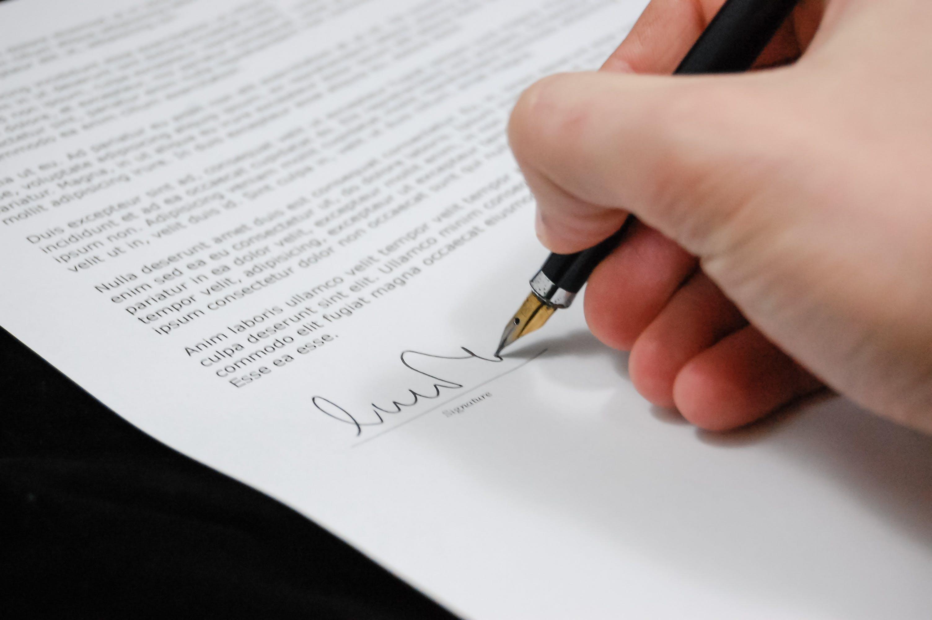 サイン, ペン, 万年筆, 弁護士の無料の写真素材