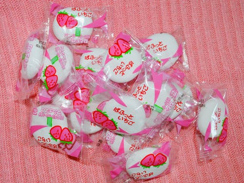 Free stock photo of candy, japanese candy, japanese food, pink