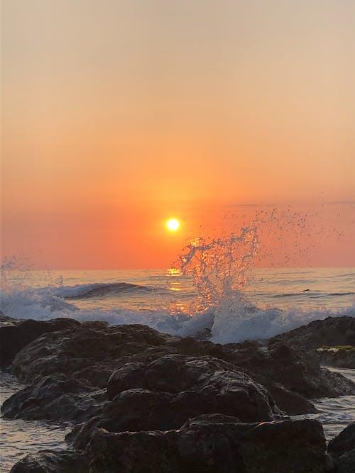 太陽, 岩石, 招手 的 免費圖庫相片