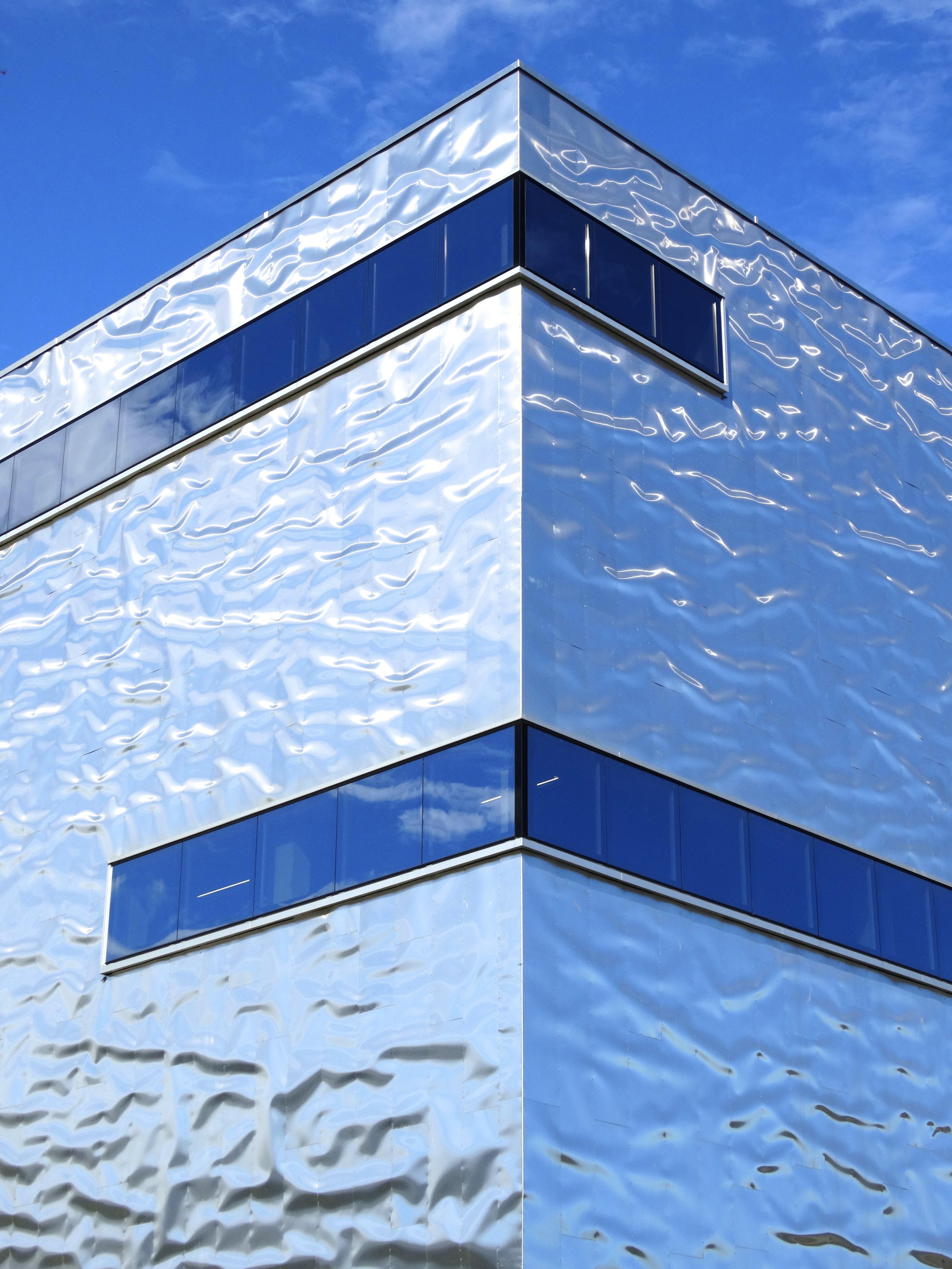 bina, camlar, madeni, mimari içeren Ücretsiz stok fotoğraf