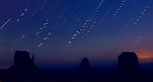คลังภาพถ่ายฟรี ของ startrails, กลางคืน, ดวงดาว, ดารา