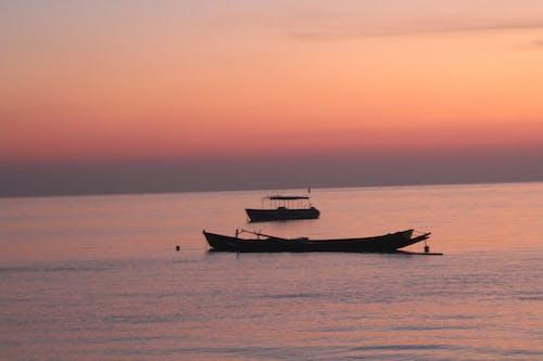 Free stock photo of early morning, orange sky