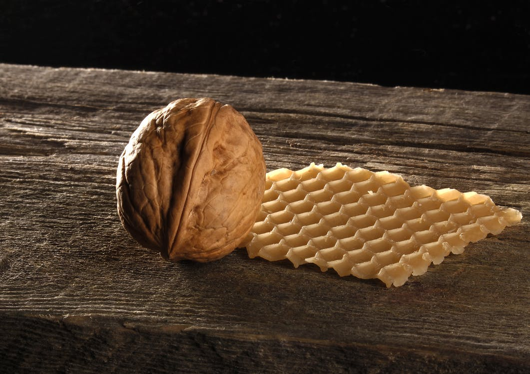 Brown Walnut on Brown Wooden Surface