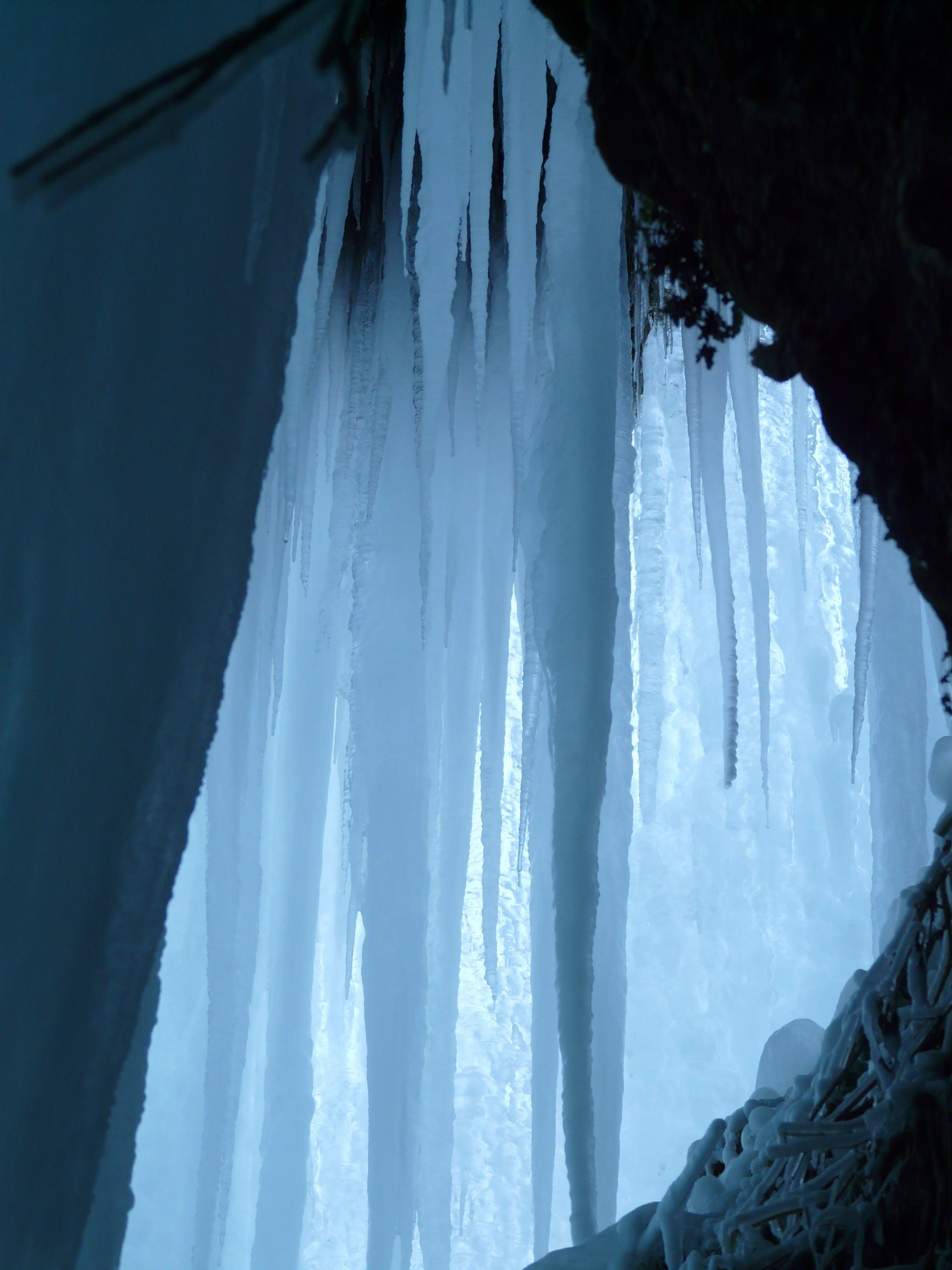 White Ice during Daytime