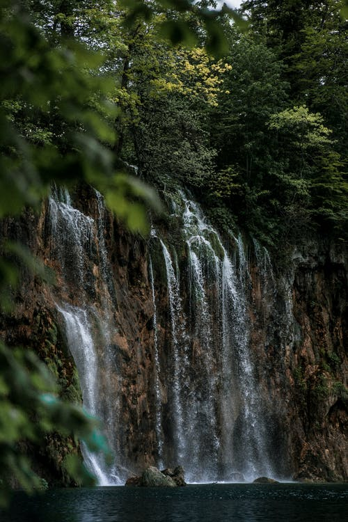 Famous Waterfalls in Plitvice Lakes National Park