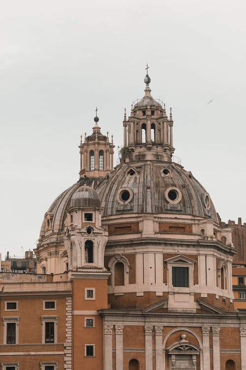 Old church dome in overcast weather
