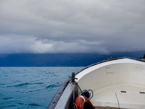 Free stock photo of boat, chile, clouds, lake