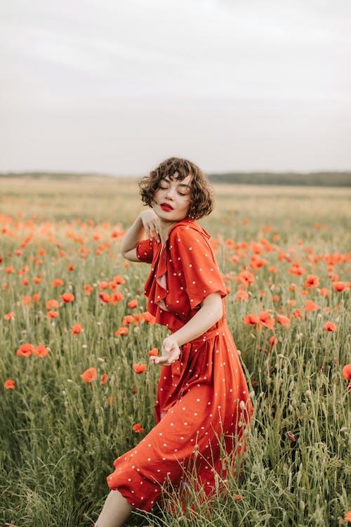 Kostnadsfri bild av blomma, fält, flicka, frihet