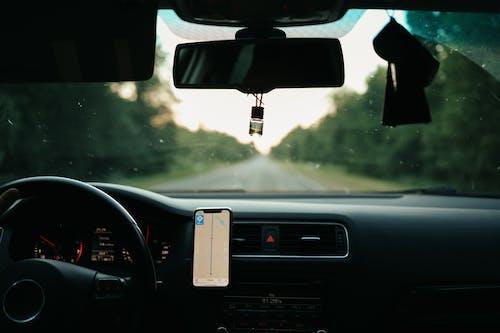 Black Car Rear View Mirror