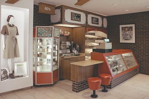 60 년대, 다방, 도넛, 도넛 가게의 무료 스톡 사진