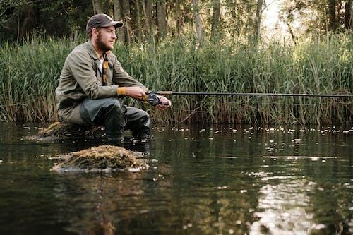 Δωρεάν στοκ φωτογραφιών με αλιεία, αλιευτικό εργαλείο, άνδρας