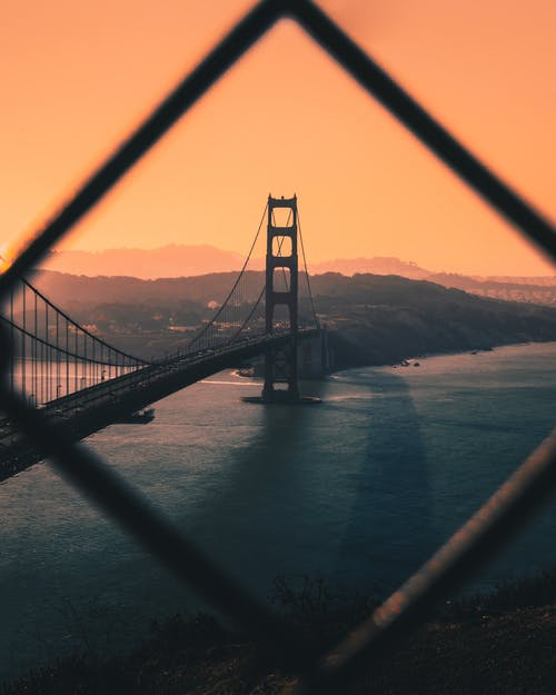 Amazing landscape of bridge above sea