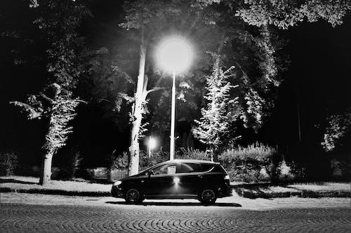 Free stock photo of at night, black car, car, city night