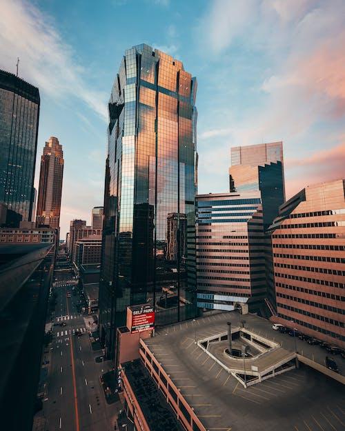 Imagine de stoc gratuită din abstract, acoperișuri, afaceri, albastru