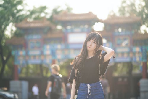 Foto d'estoc gratuïta de 1 persona, a l'aire lliure, beijing, bellesa